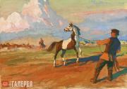 """Plastov Arkady. Illustration to """"Kholstomer"""" by Leo Tolstoy. 'Kholstomer Is Take"""