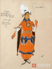 "Golovin Alexander. Costume design for the Courtiers (tenors), ""The Nightingale""."
