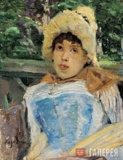 Korovin Konstantin. Portrait of a Chorus Girl. 1887