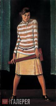 Николай ЗАГРЕКОВ. Девушка с рейсшиной. 1929 (?)