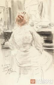Repin Ilya. At the Piano. 1905