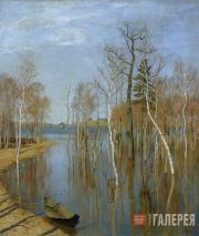 Levitan Isaaс. Spring Flood. 1897