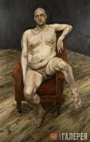 Фрейд Люсьен. Ли Бауэри (сидящий). 1990