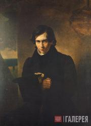 К.П.БРЮЛЛОВ. Портрет Н.В.Кукольника. 1836
