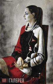 Salakhov Tahir. Portrait of Varvara in a Picasso Dress. 2005
