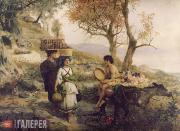 Semiradsky Genrikh. Morning. To the Market. 1890s