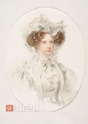 Sokolov Pyotr. Portrait of Grand Duchess Alexandra Fyodorovna. (1821 ?)