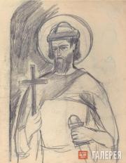 Goncharova Natalia. St. Gleb (?). 1915 (?)