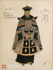 "Golovin Alexander. Costume design for the Bonze, ""The Nightingale"". 1918"