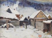 Grigory Shegal. Winter in Voskresensk. 1942