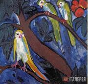 Goncharova Natalia. Parrots. 1910