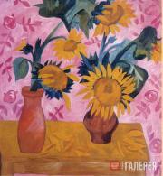 Goncharova Natalia. Sunflowers. 1908-1909