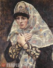Surikov Vasily. A Boyard's Young Daughter with Her Hands Crossed on Her Chest. 1
