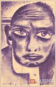Kosarev Boris. Self-Portrait. Melancholy. 1926