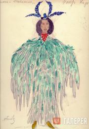Golovin Alexander, Telyakovskaya Gurly. Female costume design. Act 4. Chorus