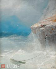 Ivan Aivazovsky. Rescue by the Cliff