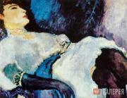 Dongen (Kees Van Dongen). La Dame aux Gants Noirs (Lady with a Black Glove). 190