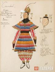 "Golovin Alexander. Costume design for Men's Chorus (basses), ""The Nightingale""."