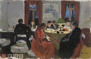 Polenova Yelena. Reading. Nelshevka. At the Antipov's Dacha. 1889