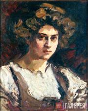 Korovin Konstantin. Portrait of Nadezhda Komarovskaya. 1909-1910