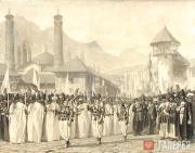 В.В.ВЕРЕЩАГИН. Религиозная процессия на празднике Мохаррем в Шуше. 1865