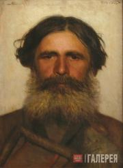 Kramskoi Ivan. Head of a Peasant. 1868