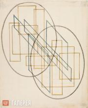 Akhtirko Anastasiya. A composition of mutually intersecting forms. 1921-1922