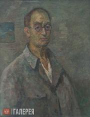 Falk Robert. Self-portrait in Grey Shirt. 1950
