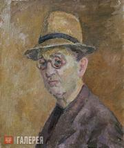 Falk Robert. Self-portrait in Straw Hat. 1955
