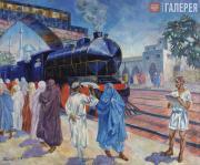 Rusakov Nikolai. First Train. 1924