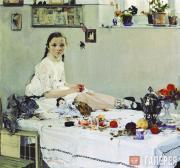 Fechin Nikolai. Portrait of Varya Adoratskaya. 1914