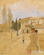 Levitan Isaaс. A Street in Yalta. 1886