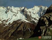 Levitan Isaaс. Mountain Range. Mont Blanc. 1897