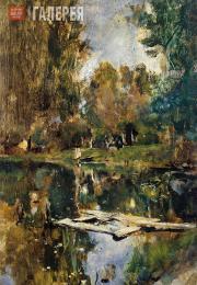 Serov Valentin. A Small Pond. Abramtsevo (Upper Pond at Abramtsevo). 1886