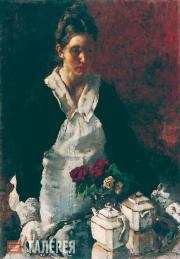 Женщина с подносом. 1942