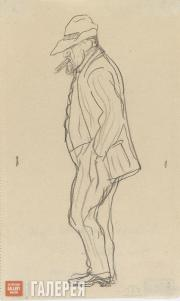 "Serov Valentin. ""Dull Serov"". A self-caricature. 1910-1911"