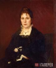 Kramskoi Ivan. Portrait of Sofia Kramskoi. 1879