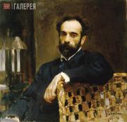 Serov Valentin. Portrait of Isaac Levitan. 1893