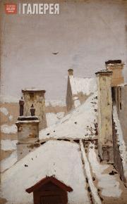 Kuindzhi Arkhip. Rooftops. Winter. 1876