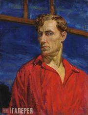 Rusakov Nikolai. Self-portrait in a Red Shirt. 1935