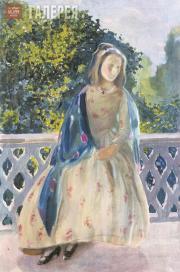 Борисов-Мусатов Виктор. Девушка на балконе. 1900