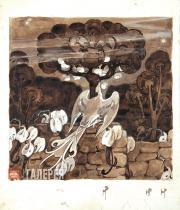 Polenova Yelena. The Firebird. 1897