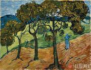 Vincent van Gogh. Landscape with Figures. 1889