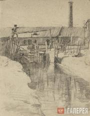 Kotlyarov Lev. Wooden dam. 1943