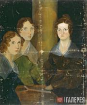 Patrick Branwell BRONTE. The Brontë Sisters (Anne, Emily, Charlotte Brontë). c.