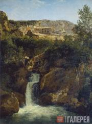 Shchedrin Sylvester. View of the Waterfall4 near the Monastery of St. Benedict i