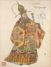 "Golovin Alexander. Costume design for the Emperor, ""The Nghtingale"". 1918"