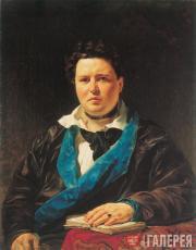 К.П.БРЮЛЛОВ. Портрет П.И.Кривцова (не окончен). 1844
