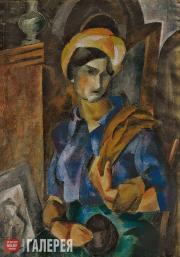 Falk Robert. Girl in a Head Wrap (Elizaveta Potekhina). 1914