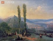 Aivazovskiy Ivan. View of Tiflis. 1869